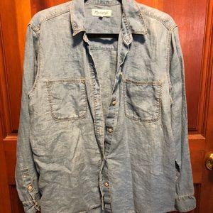 Madewell Linen Denim Shirt